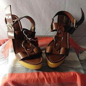 Mossimo Supply Co.  Heeled Sandal 7.5 Brown